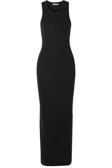 344dadc0c4e James Perse - Stretch Cotton-blend Jersey Maxi Dress - Black in 2019 ...