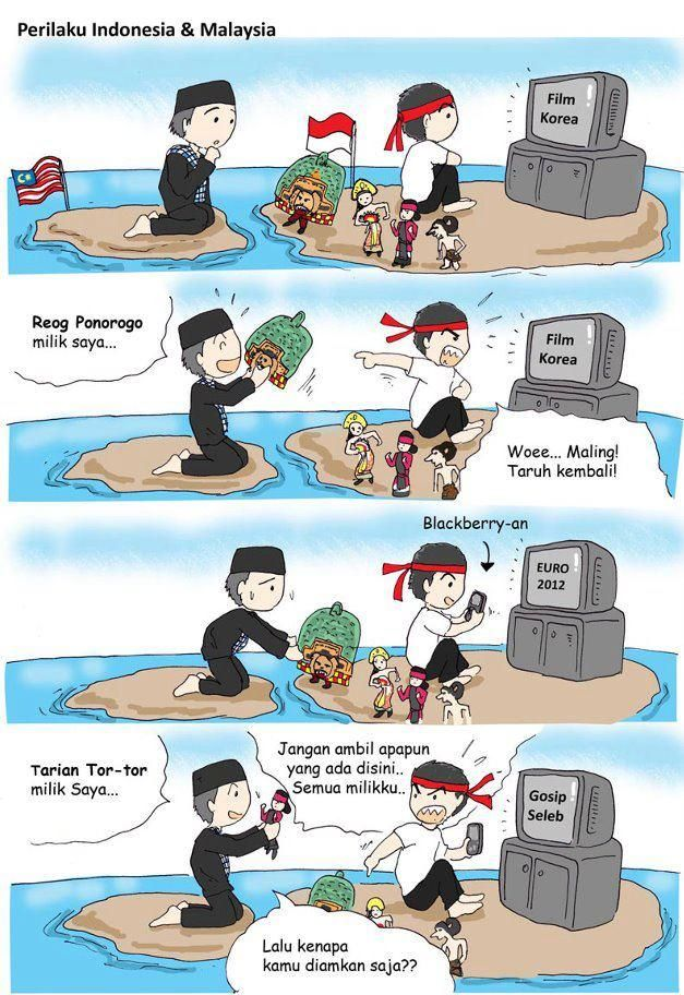 f0ecf4f0d4f306fe1126a5662c825297 kelakuan indonesia sama malaysia comics pinterest meme, meme