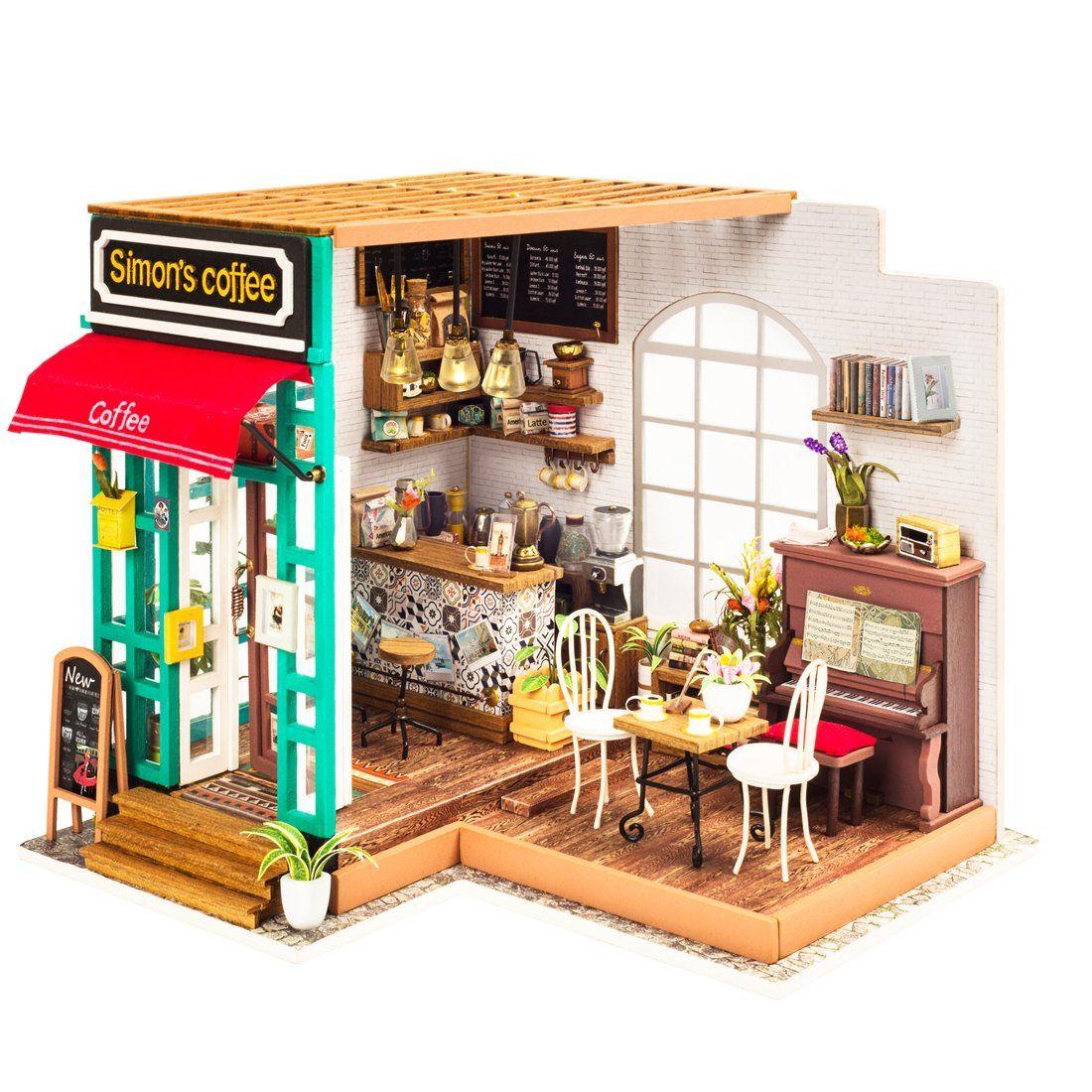 Photo of Miniature DIY House Kits – Simon's Coffee Shop