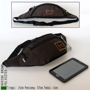 Tas Pinggang Waist Bag GAYA POLISI Coklat Terbaru Termurah 1859 ... 3f0a82599f