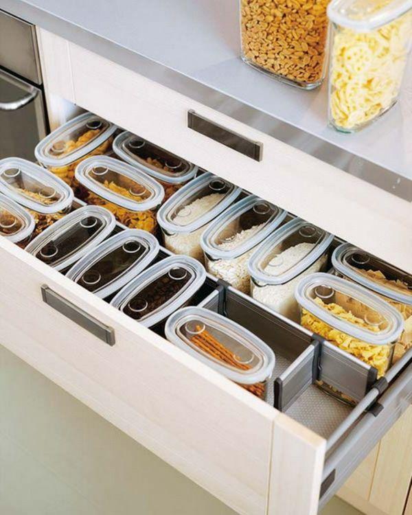 praktische Ideen Organization der Küchenschubladen küche essen ...