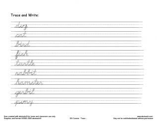 cursive writing worksheets | Free Handwriting Worksheet ...