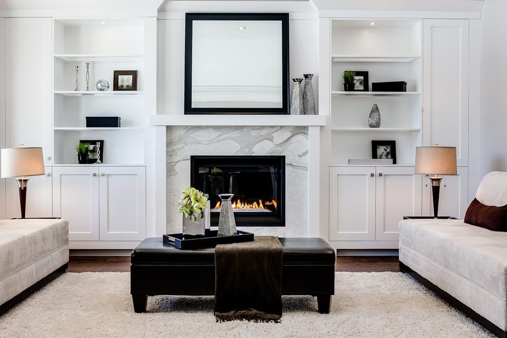 Fireplace Built Ins Living Room Transitional With Gas Fireplaces Shag Area Rugs Fireplace Built Ins Living Room Built Ins Fireplace Shelves