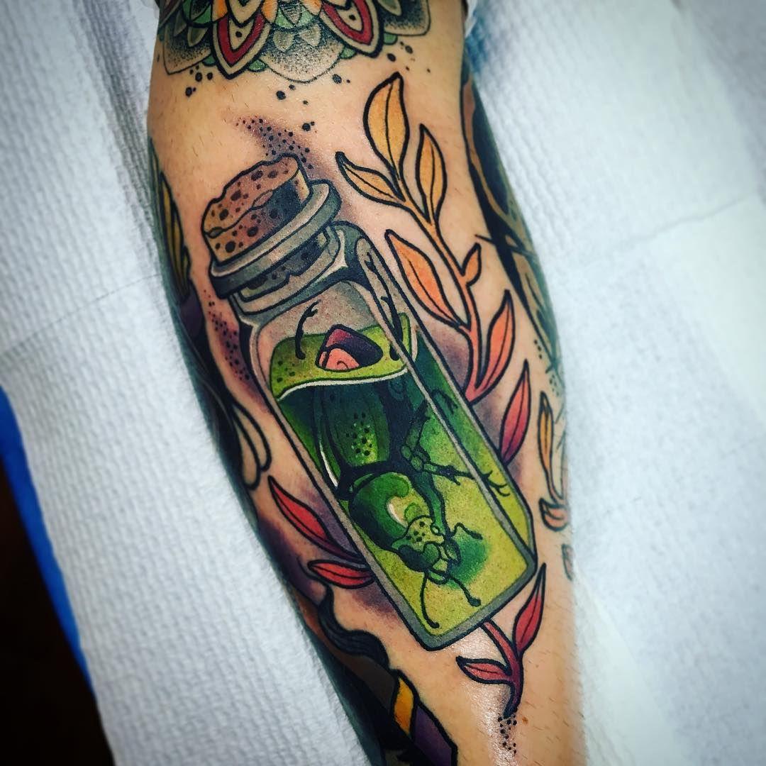 "Amazing Work: ""Beetlejuice Jadens 3rd Tattoo Yesterday... (Inspired By"