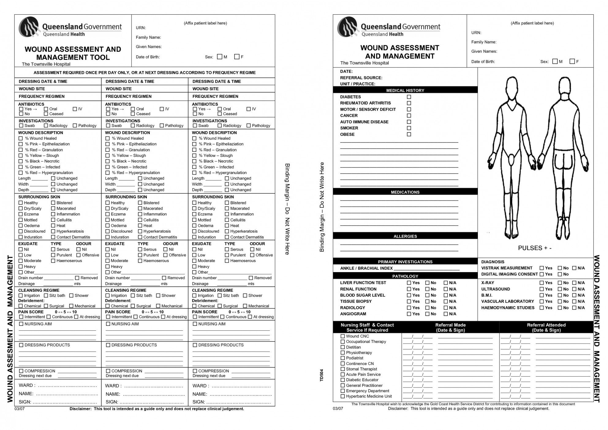 Wound Care Documentation Template With Images