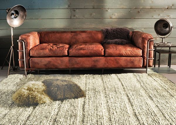 Tapis laine irish flanelle 140x200 salones living for Muebles industriales usados