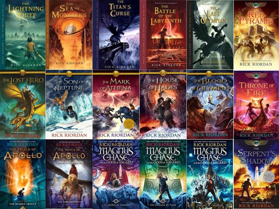 Image result for all rick riordan books