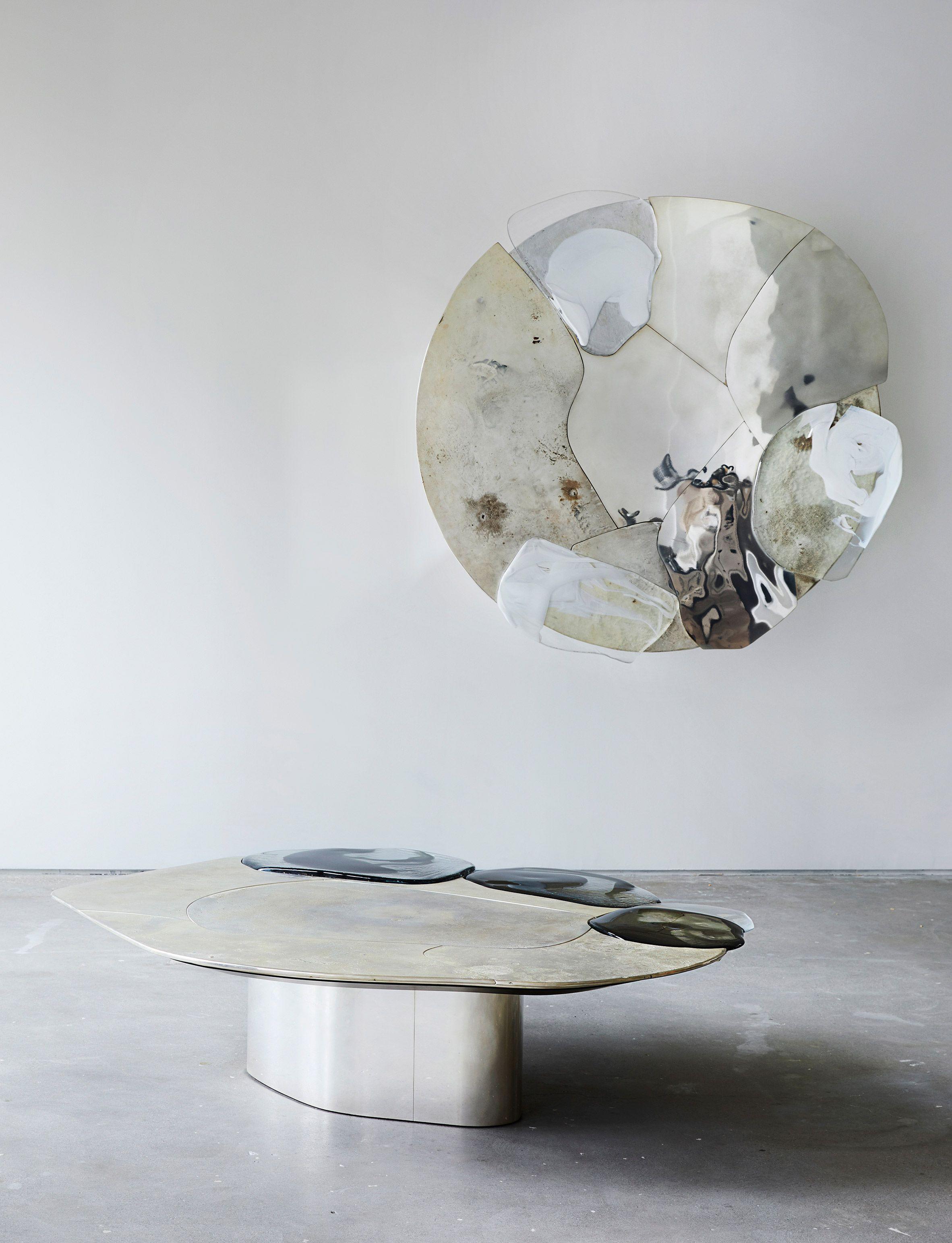 Pools Of Metal And Glass Form Vincenzo De Cotiis Baroquisme Furniture Ceramic Furniture Furniture Table Furniture