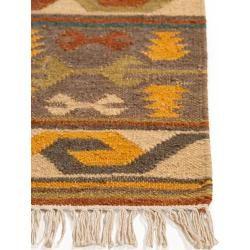 Photo of benuta Naturals Handgewebter Kelim Zohra Multicolor 120×170 cm – Moderner Bunter Teppich für Wohnzim