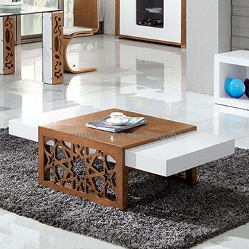 high gloss mdf modern coffee table in white cc61