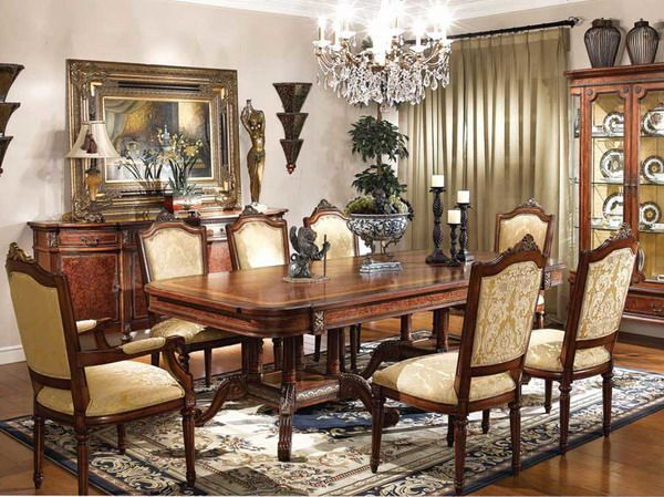 Cool traditional dining room furniture sets ideas picture for the home pinterest for Creative dining room table ideas