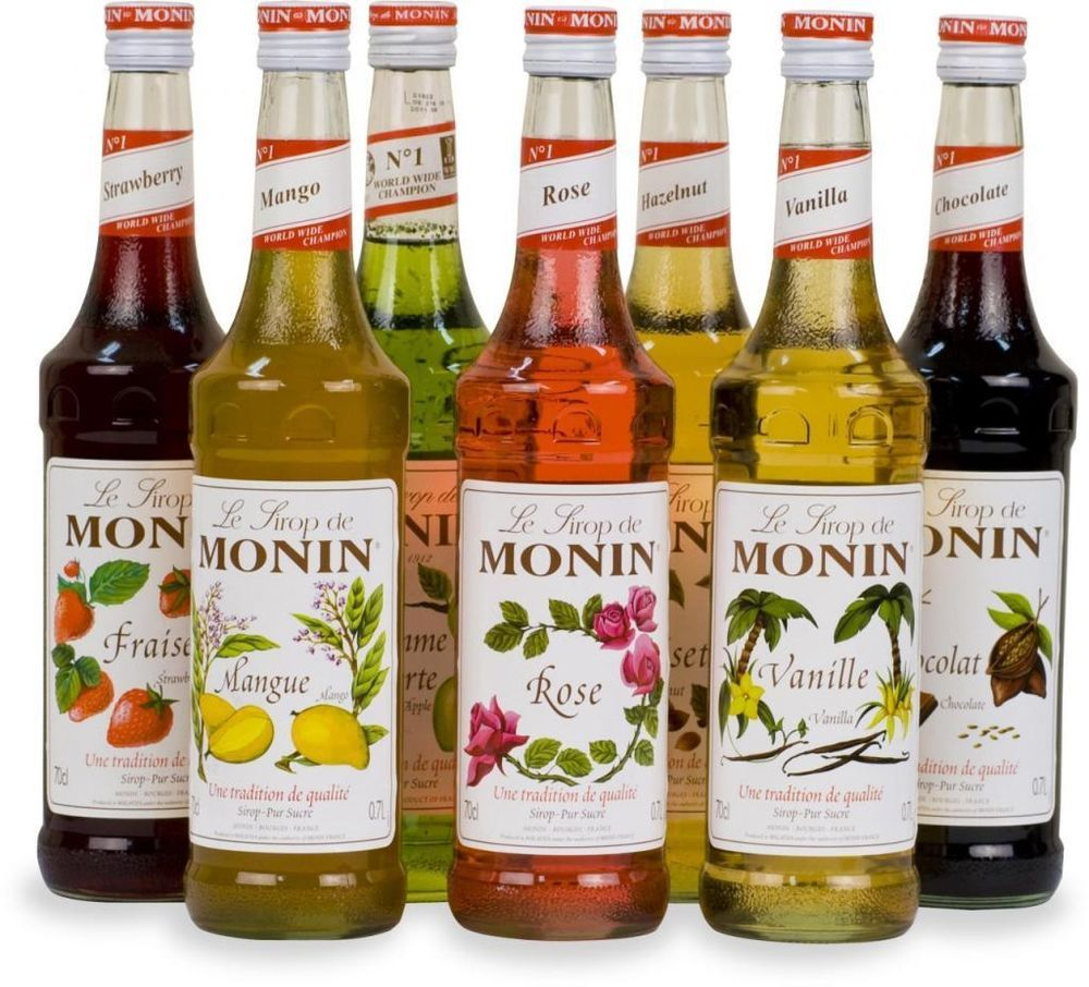 Details about monin coffee syrups 4 x 1 ltr litre