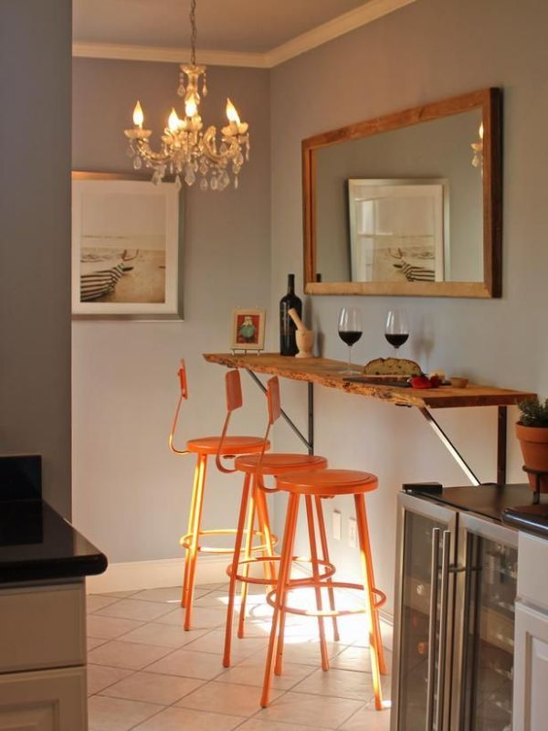 Homedit Interior Design And Architecture Inspiration Small Kitchen With Table Wall Mounted