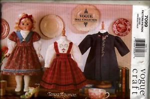 Sewing-Pattern-Vogue-7099-18-Doll-Heirloom-Clothes-UC