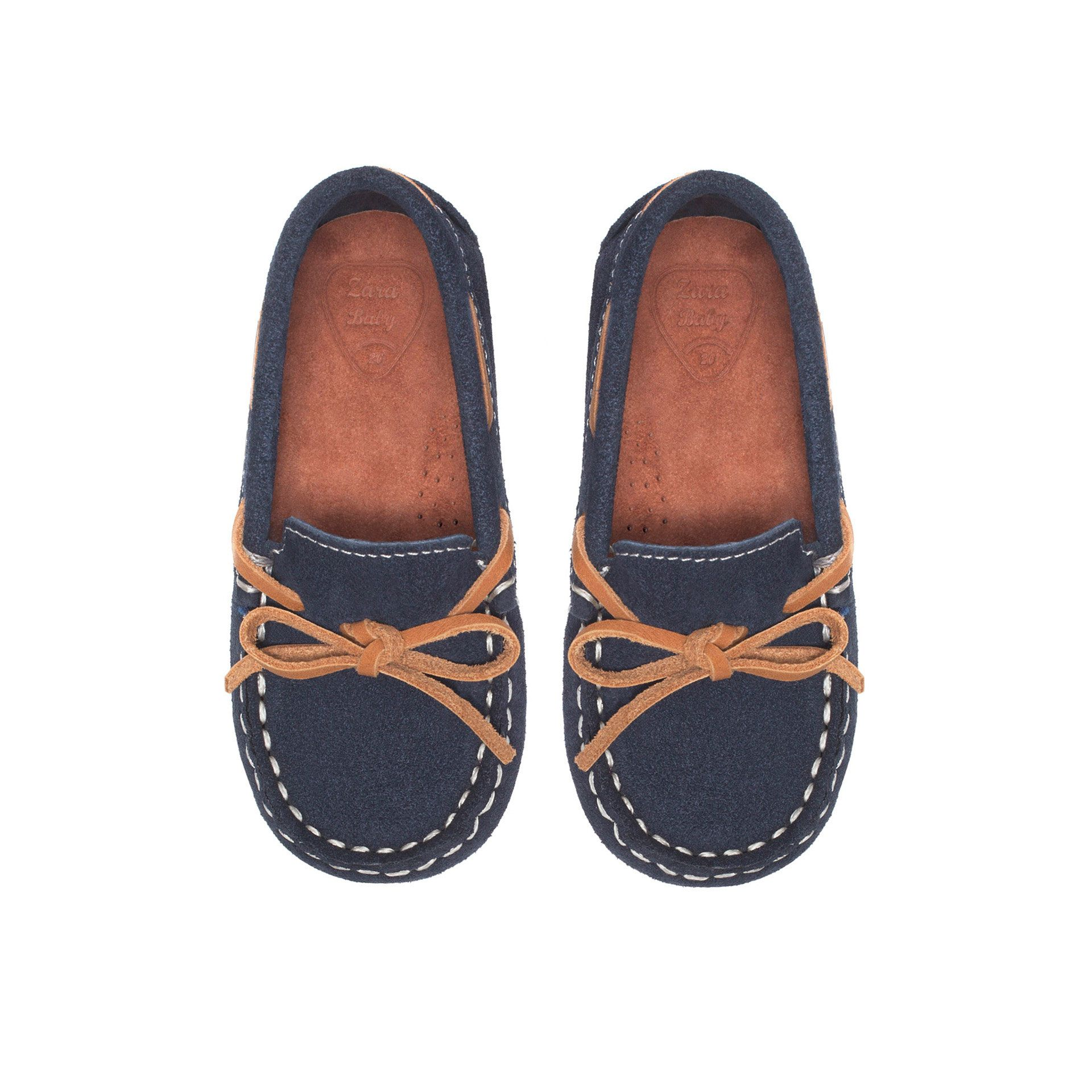 Casual leather moccasin Shoes Baby boy Kids ZARA United