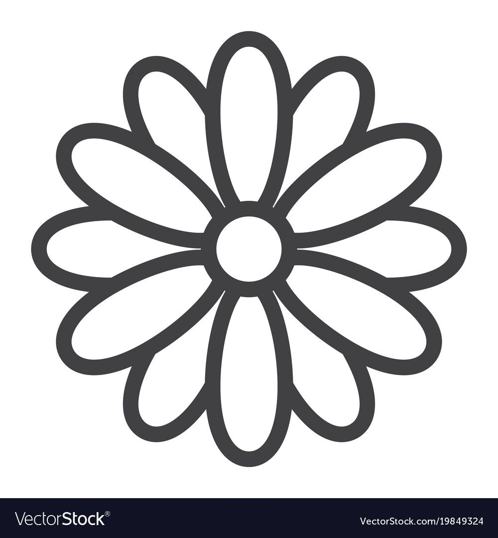 Flower line icon easter and holiday nature sign Vector Image