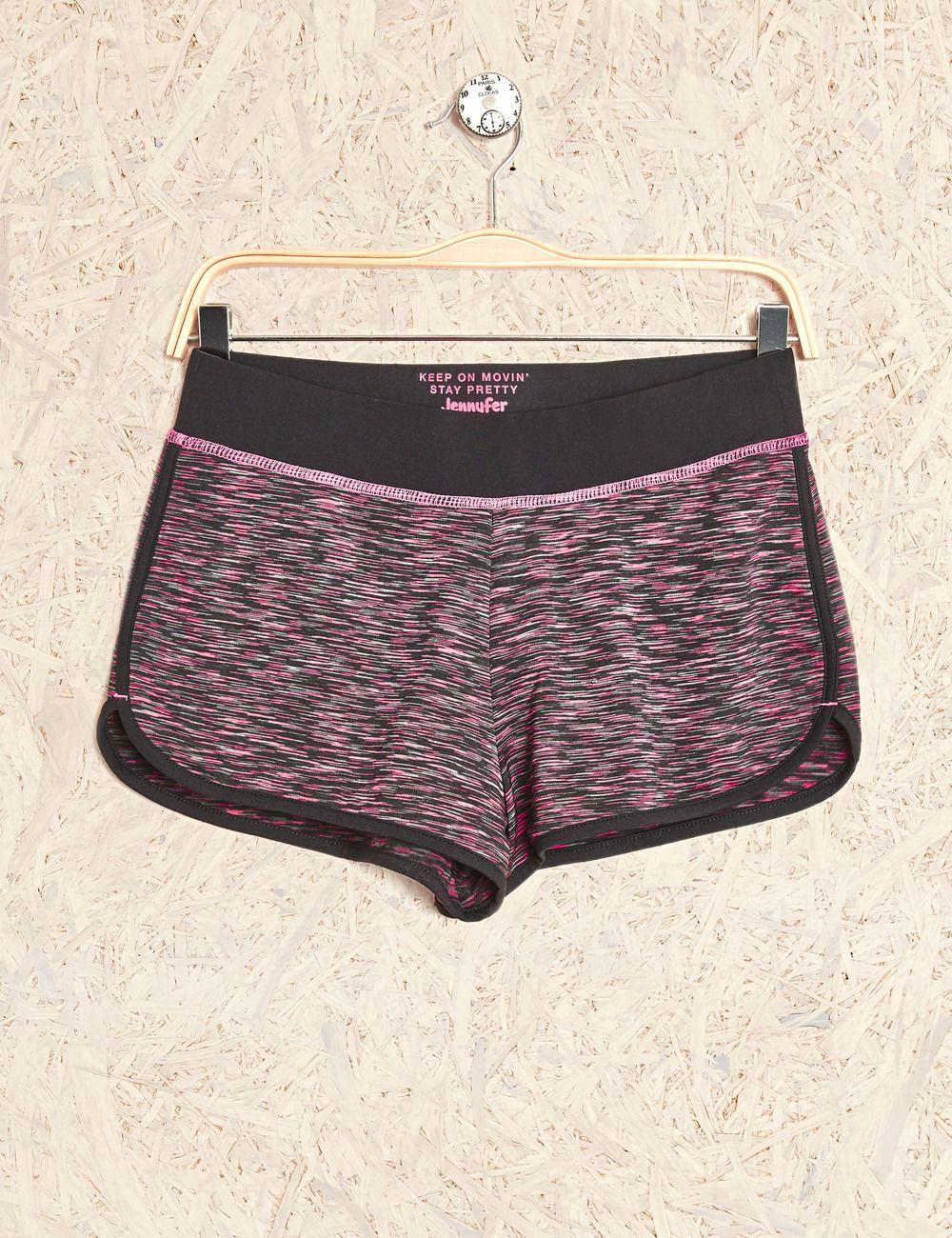 Short fitness chiné noir et rose femme • Jennyfer  d9d76ce0cd8