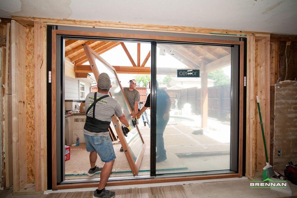 Installation Of Centor Sliding Door In Coppell Texas Home Centor