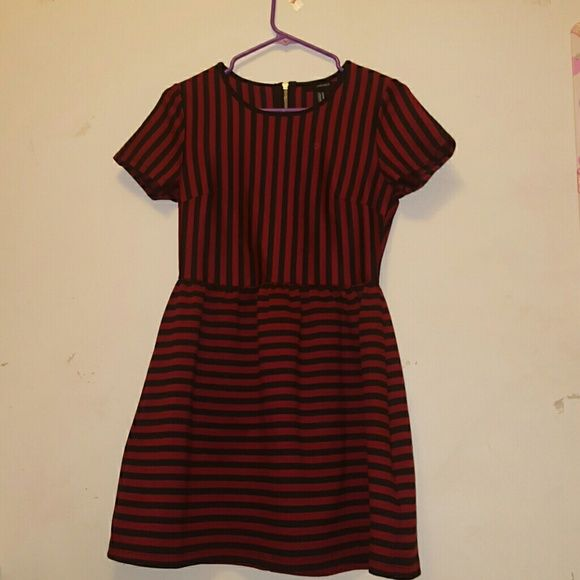 Final Forever 21 Black Red Striped Dress 21st Dresses Forever 21