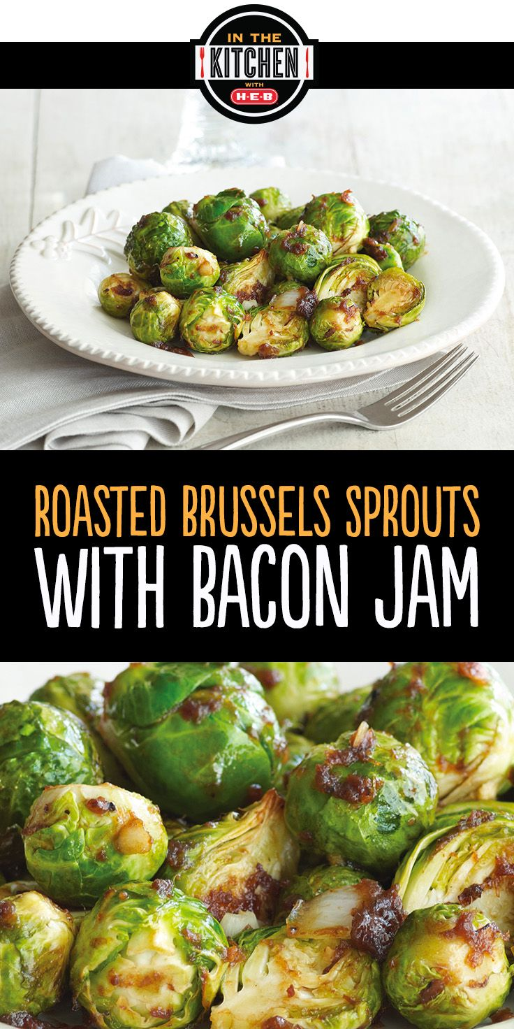 This Roasted Brussel Sprouts with Bacon Jam recipe is