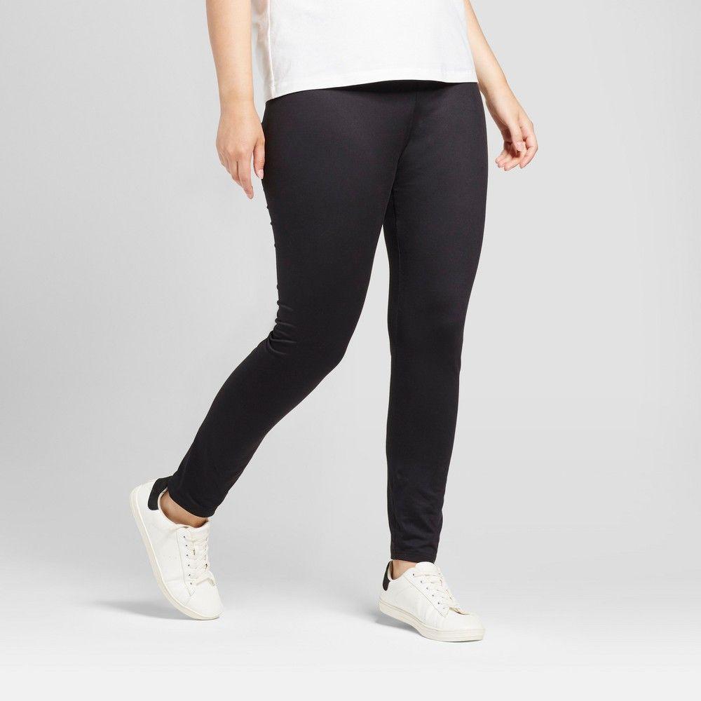 Women's Plus Size Leggings - A New Day Black 4X