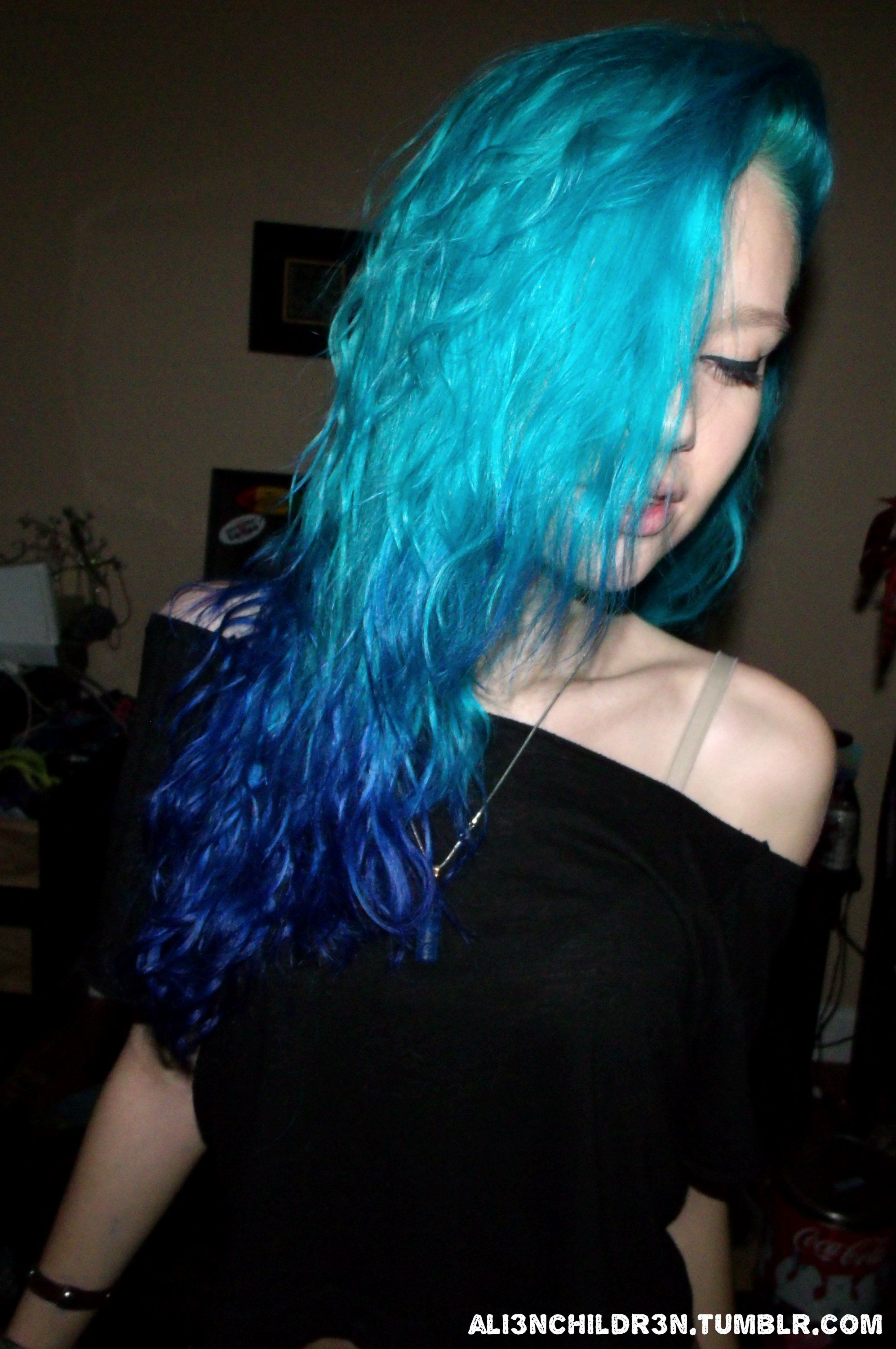 blue and teal ombre hair | My pictures | Pinterest ...