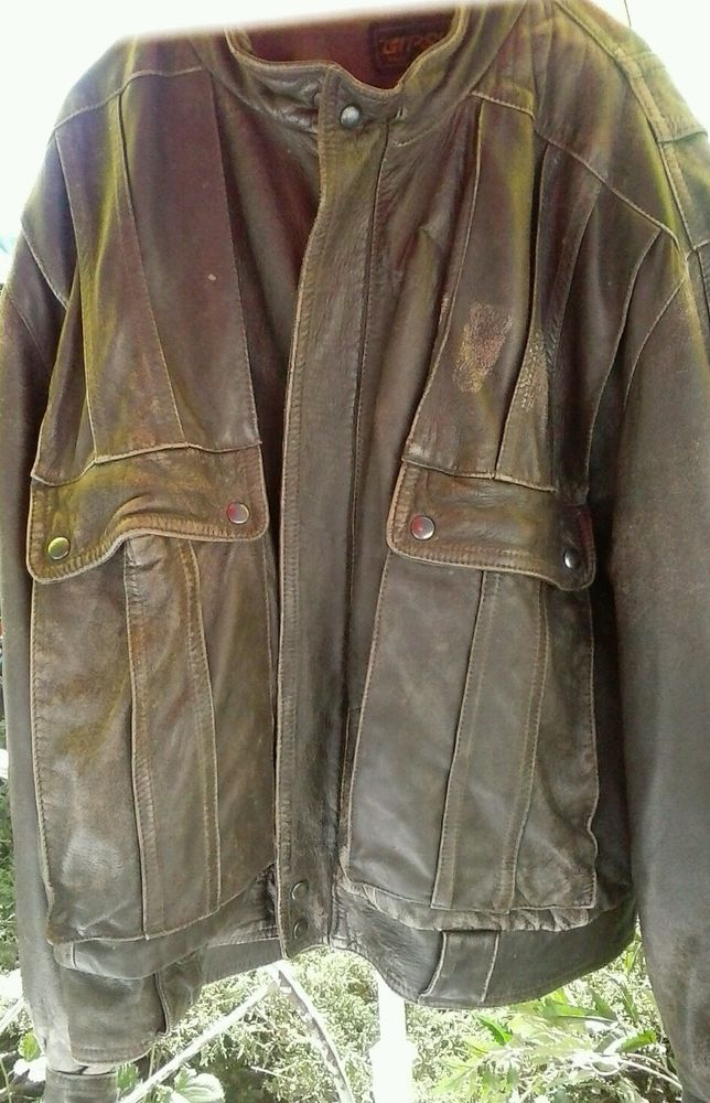 Vintage Leather Motorcycle Jacket sz 52_brown_Gypsy Brand