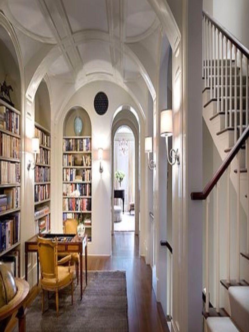 Brownstone Interior Design Ideas Small Kitchen: Luxury Hallway Utilised As A Library