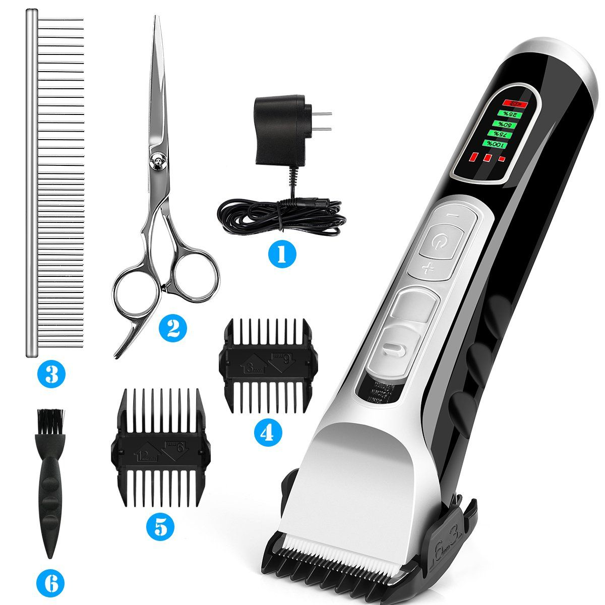 Dog Grooming Clippers Scissors Professional Pet Cordless