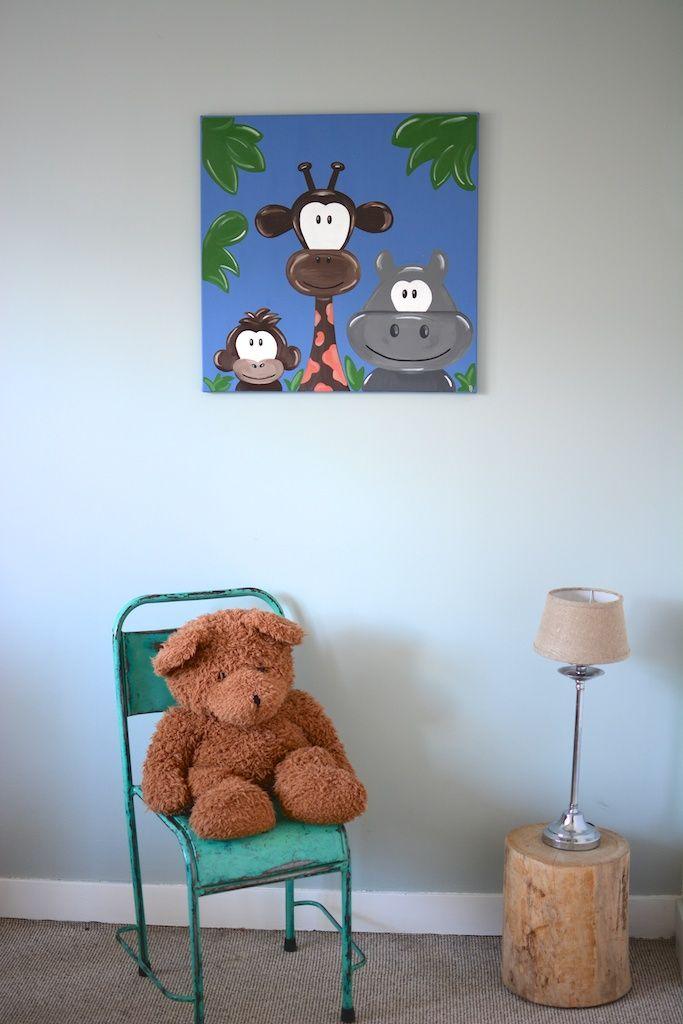 Kinderkamer inspiratie: Jungle dieren als wanddecoratie in een ...