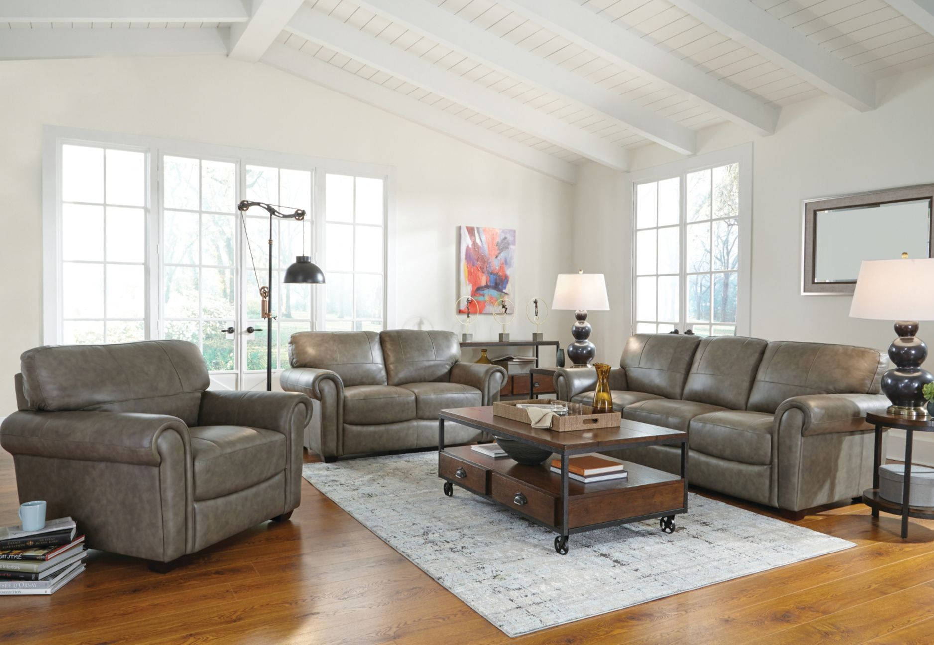 Timeless Traditional Style In Greige Leather Furniture Mattress Furniture Home Furniture