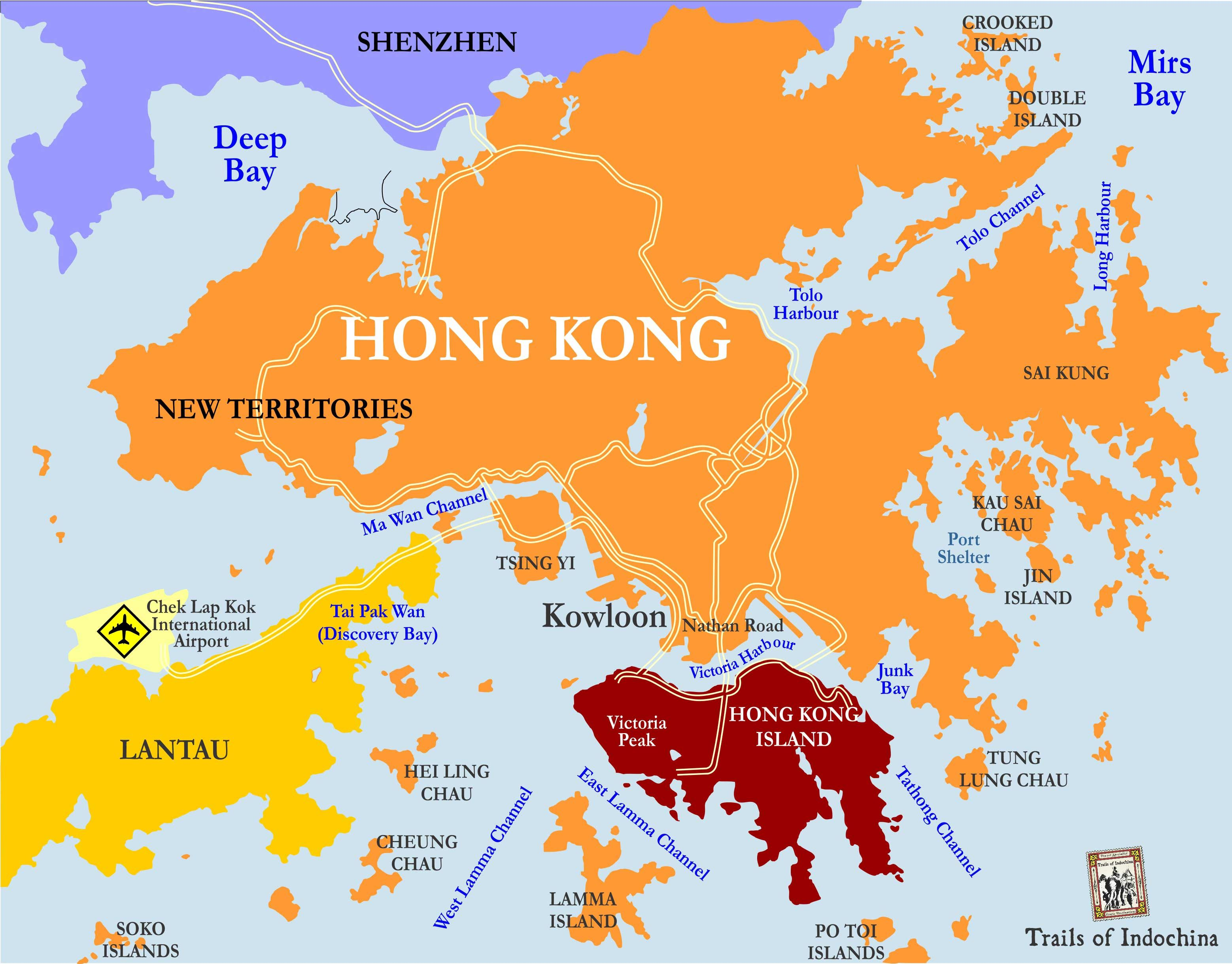 Map of Hong Kong China Pinterest China hong kong and Asia