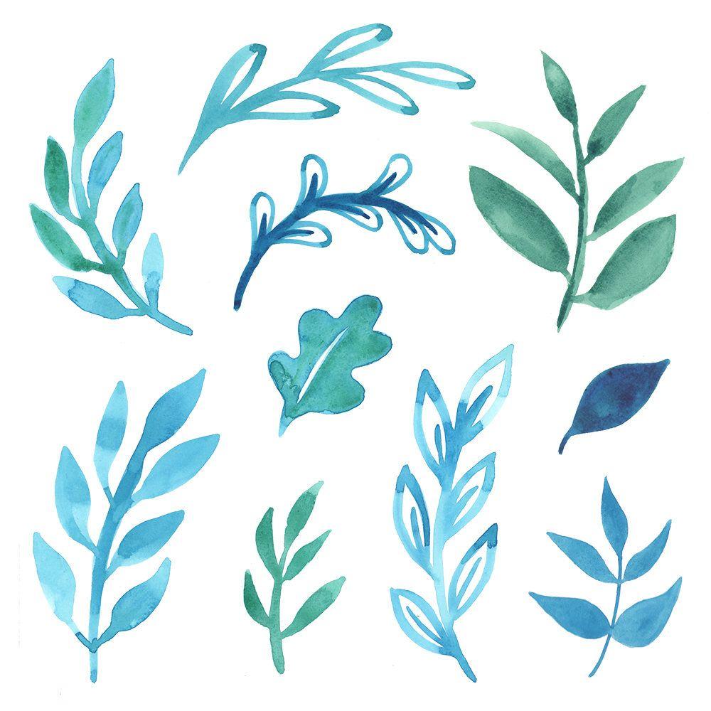Watercolor Leaves Clipart Watercolor Clipart Set Wreath 수채화