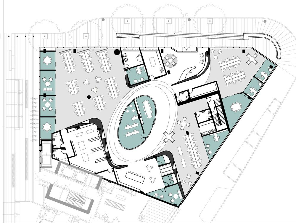Floor plan of office layout t m v i google plan office layout pinterest layouts google Google floor plan