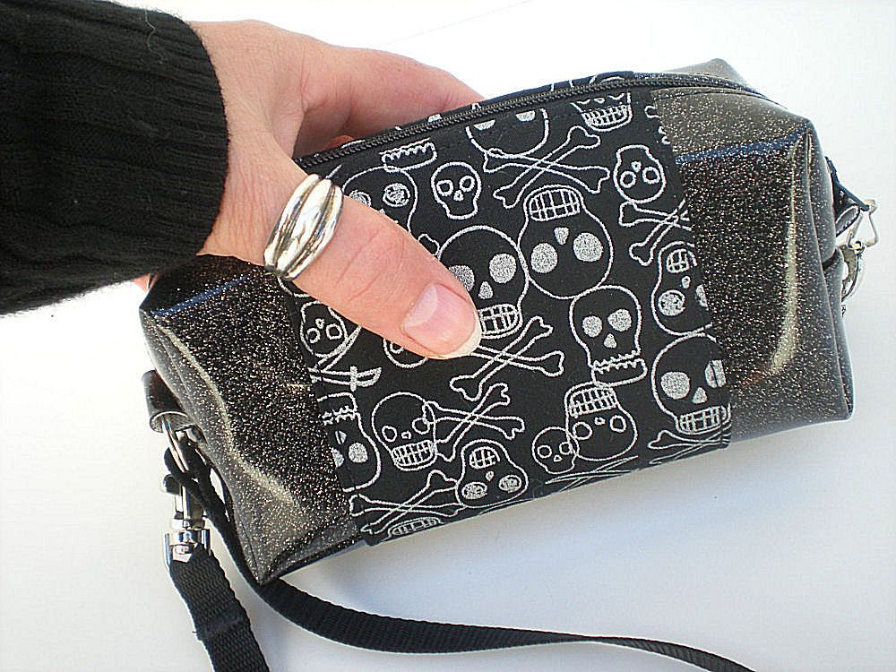 Skull+Purse++Black+and+Silver+Gothic+Skull+by+VelvetBitchOriginals,+$29.00