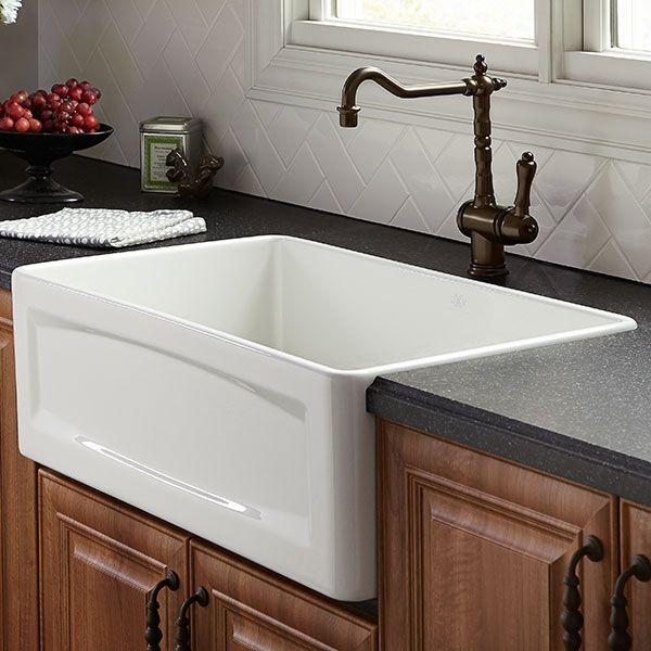 Dxv Hillside 30 Inch Apron Kitchen Sink Room Scene Canvas White