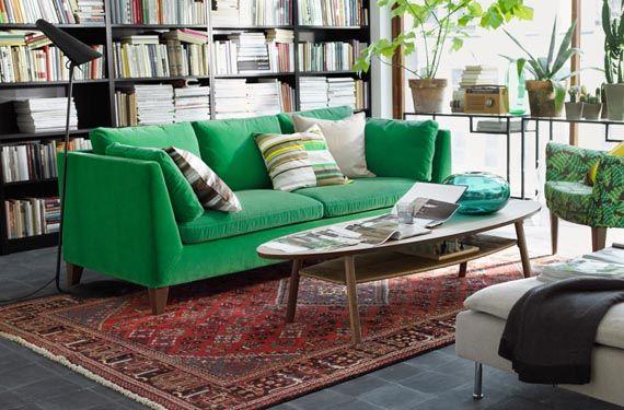 Sofá de colores en verde                                                                                                                                                     Más