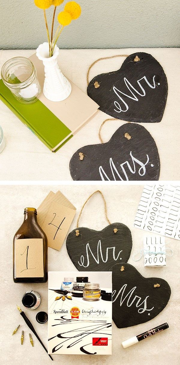 It's easy to create your own chalkboard décor with our DIY tutorial, and even easier to make it match a themed event or handmade wedding!