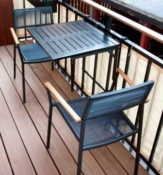 Klapbord til en lille altan