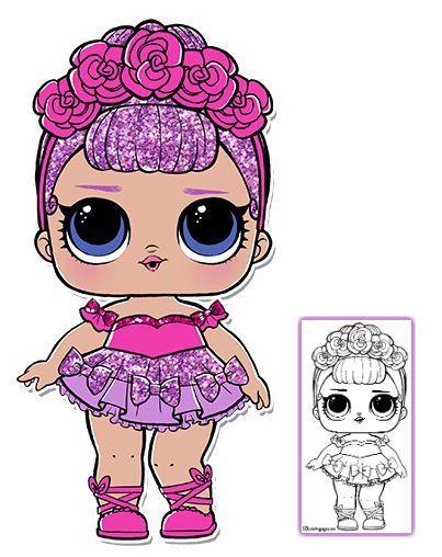 LOL Surprise Doll Coloring Pages U2013 Page 3 U2013 Color Your Favorite LOL Surprise  Doll!