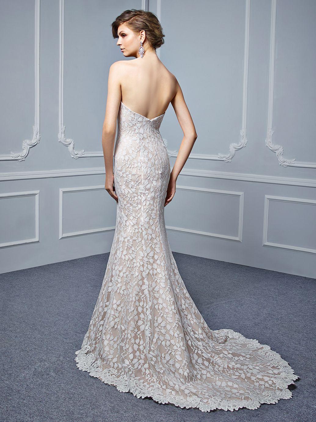 enzoani wedding dress 2017 beautiful collection, bt17-25, back