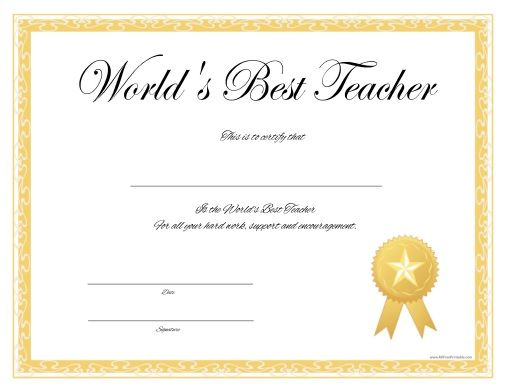 give this to your best teacher