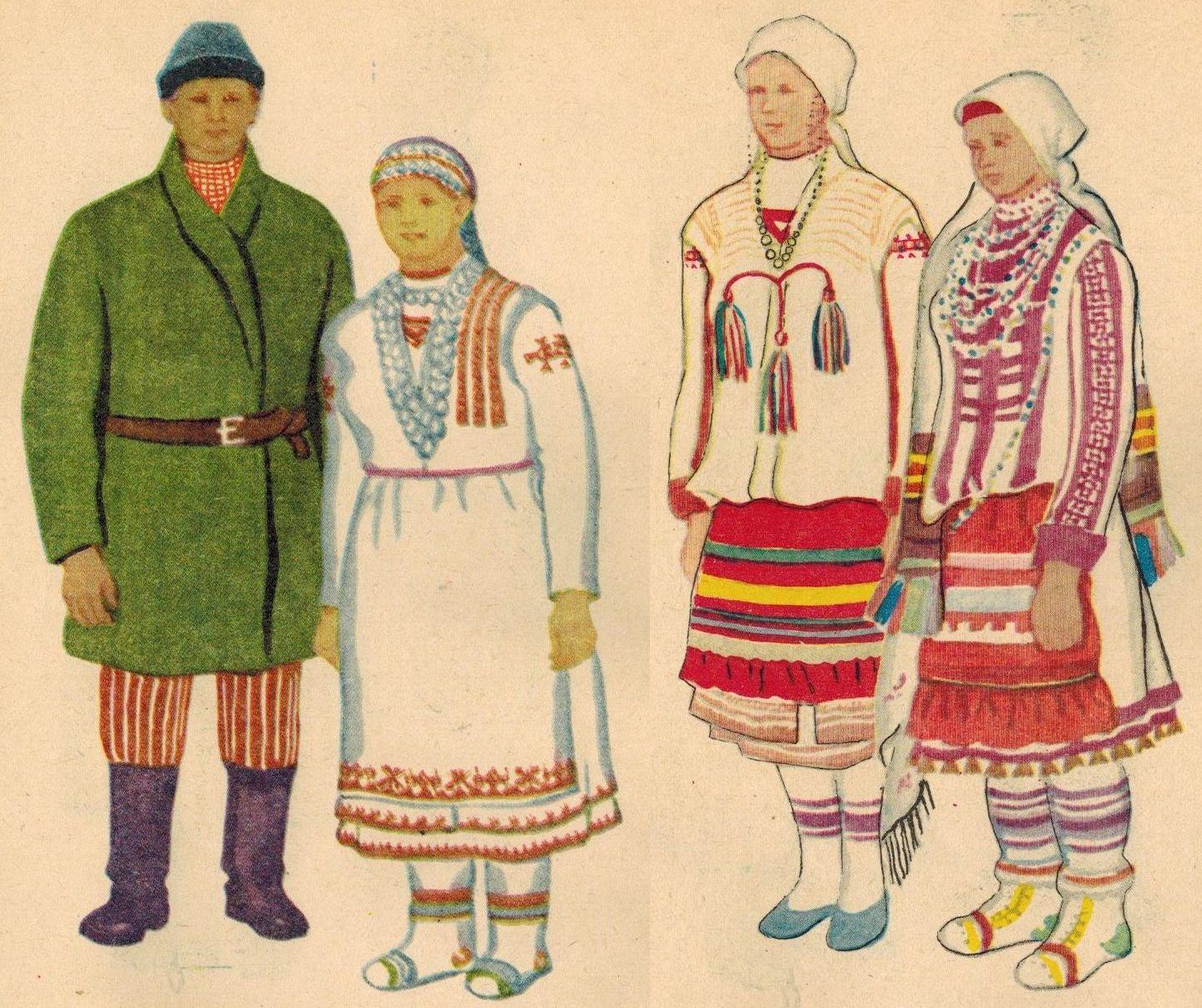 Удмуртский народный костюм картинки для детей