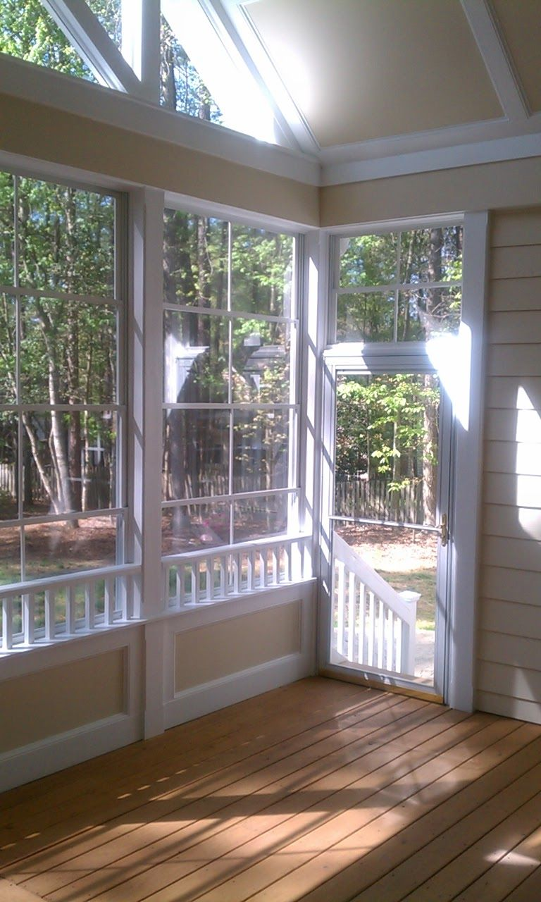 Half Wall Screened Porches More Envision Built Porch