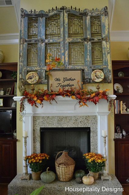 We Gather Together Fall Mantel At Hospitality Designs Fall