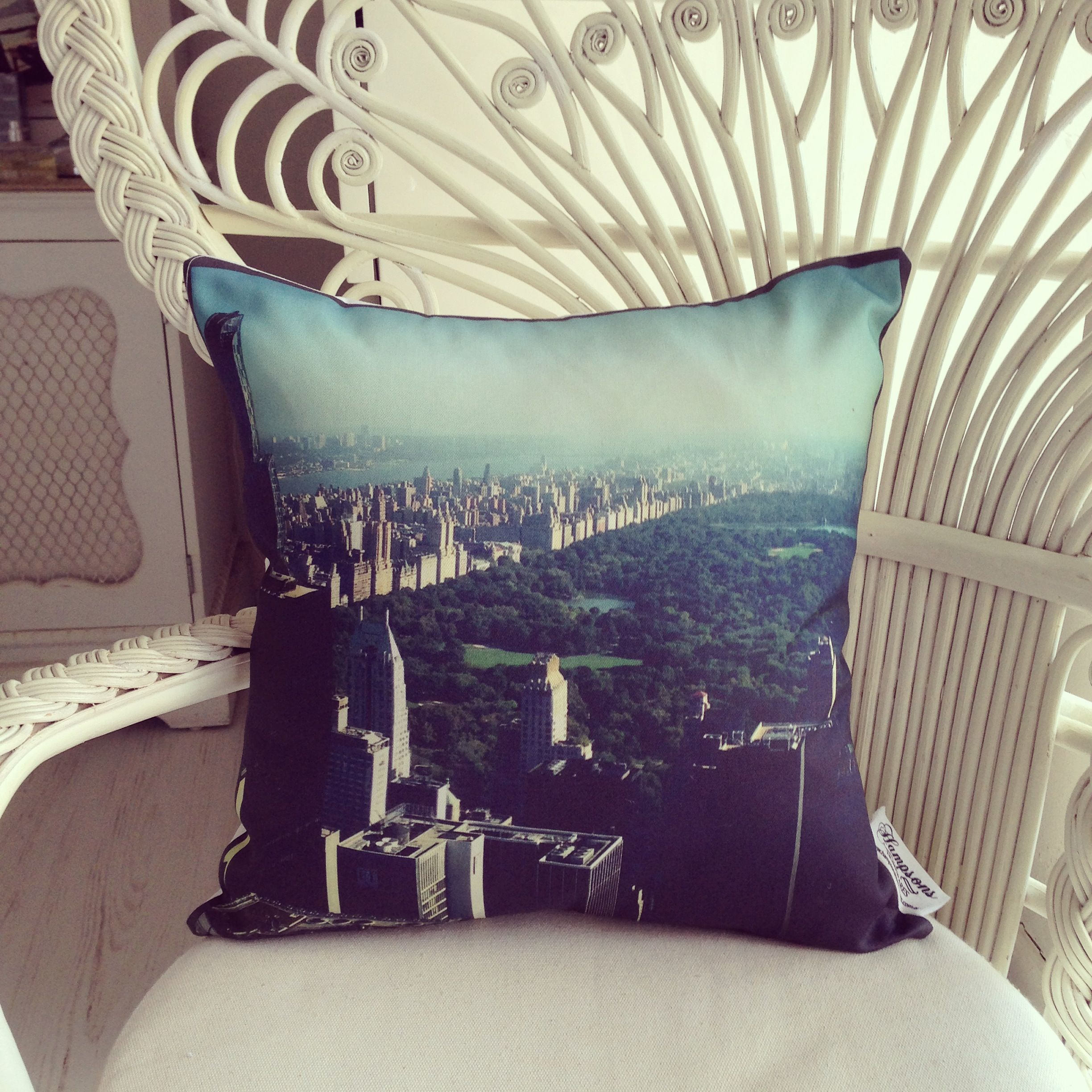 NYC on a cushion.  We took this shot standing at the top of the Rock, the most amazing view over Central Park! LOVE this cushion :-) x