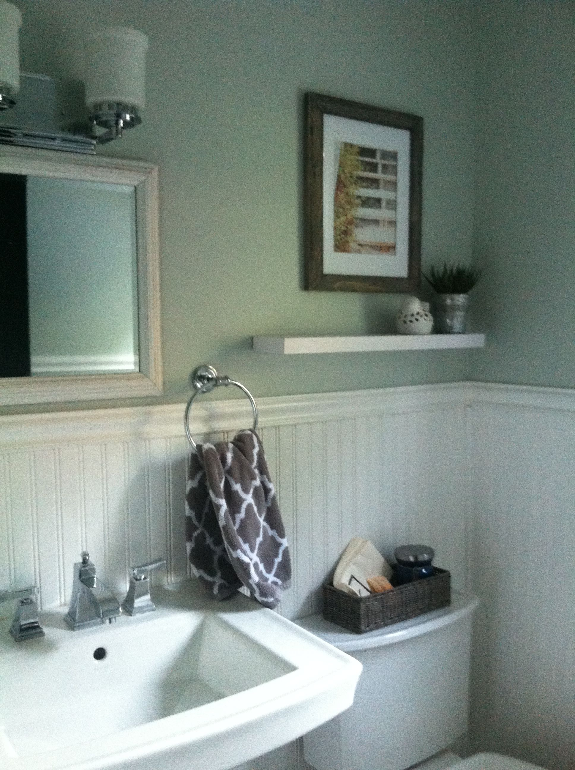 Powder Room Ideas Sherwin William Sea Glass