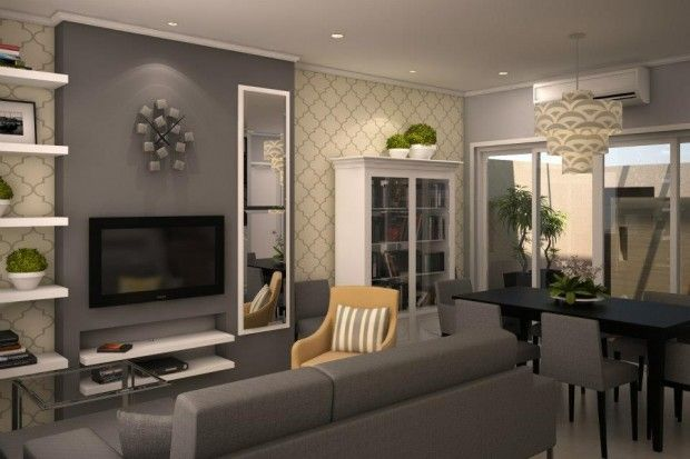 Grey Living Room Interior Design Ideas With Italian Style Featuring Modern Tv Wall Unit Charming W Living Room Grey Living Room Decor Gray Trendy Living Rooms