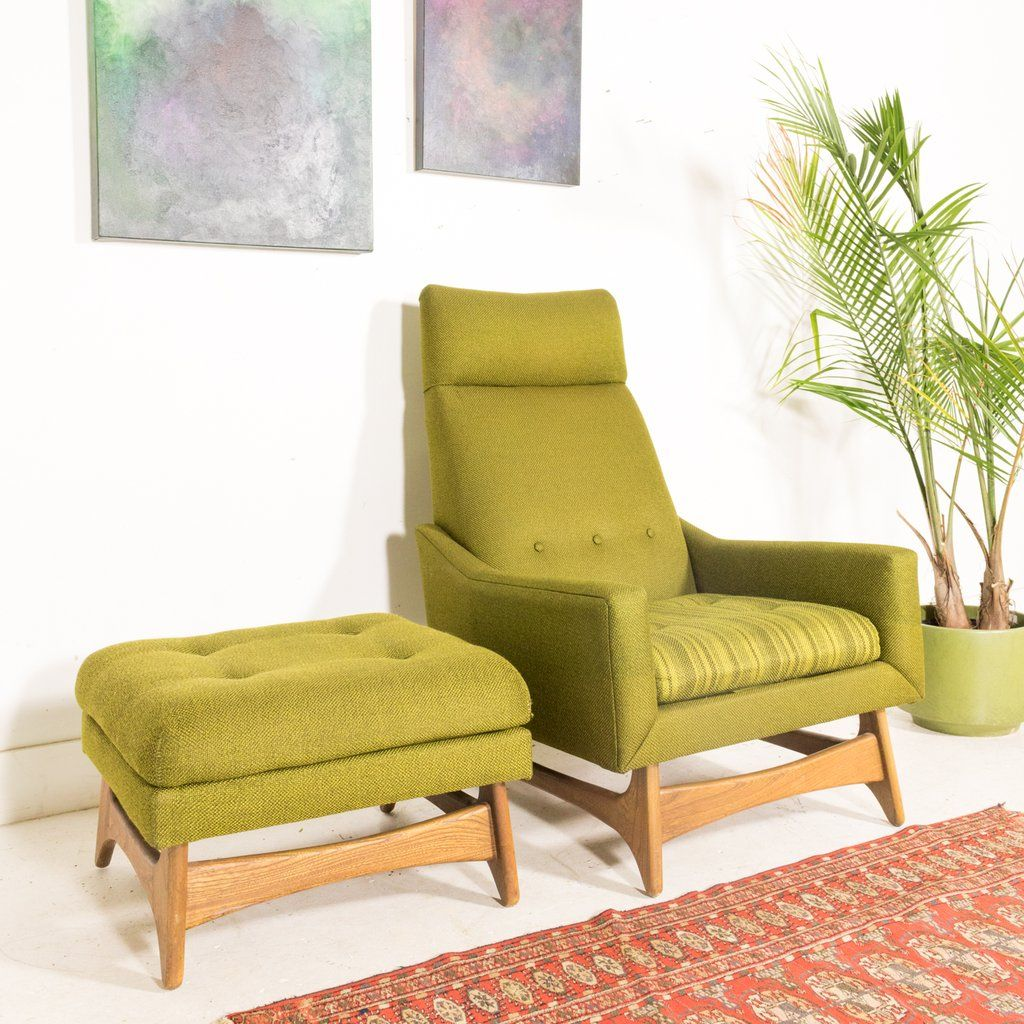 Awesome Kroehler Lounge Chair And Ottoman Atomics Showroom Machost Co Dining Chair Design Ideas Machostcouk