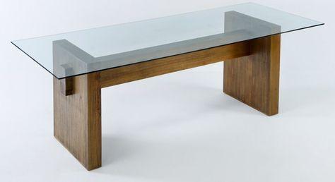 Resultado de imagen para mesa comedor madera vidrio | Iron // wood ...